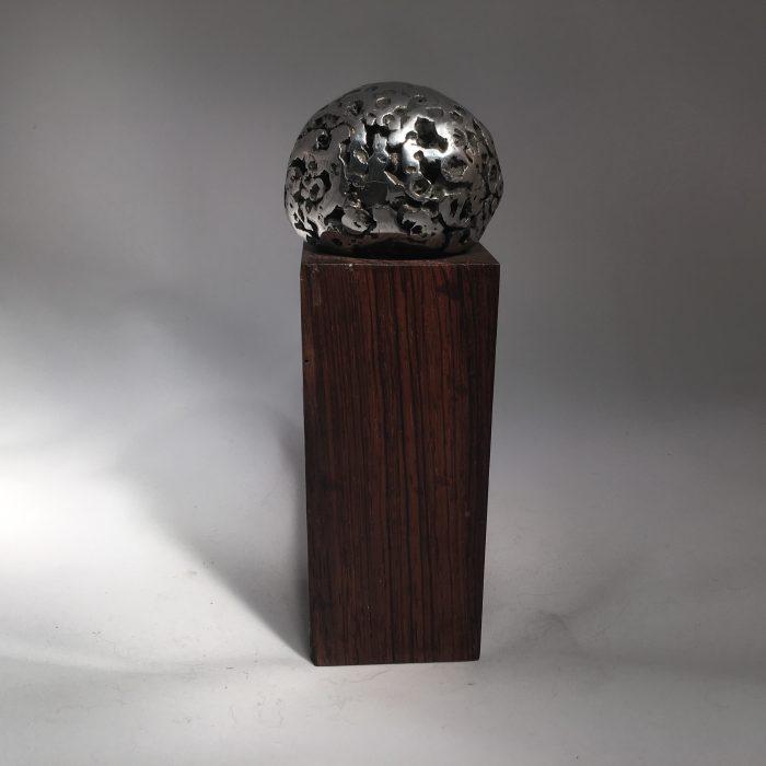 Untitled #1033 Metal on Wood (sold)