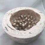 Untitled #1050 white plaster cast