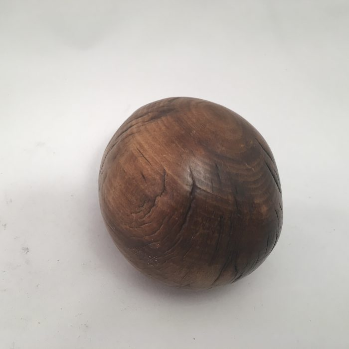 Untitled #1010 Burnt Wood Sphere (sold)
