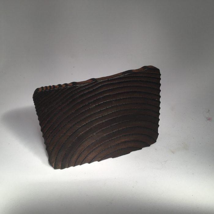 Untitled #1012 burnt wood slice (sold)