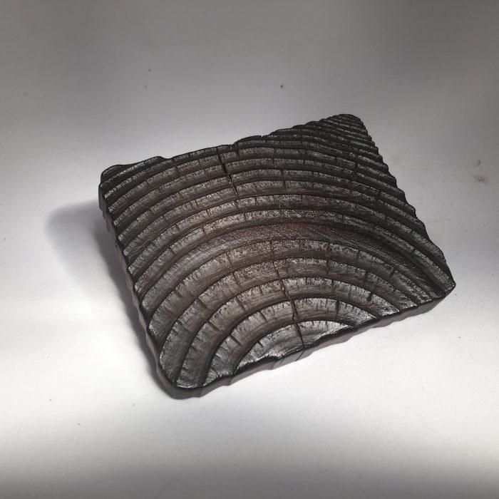 Untitled #1013 burnt wood slice (sold)