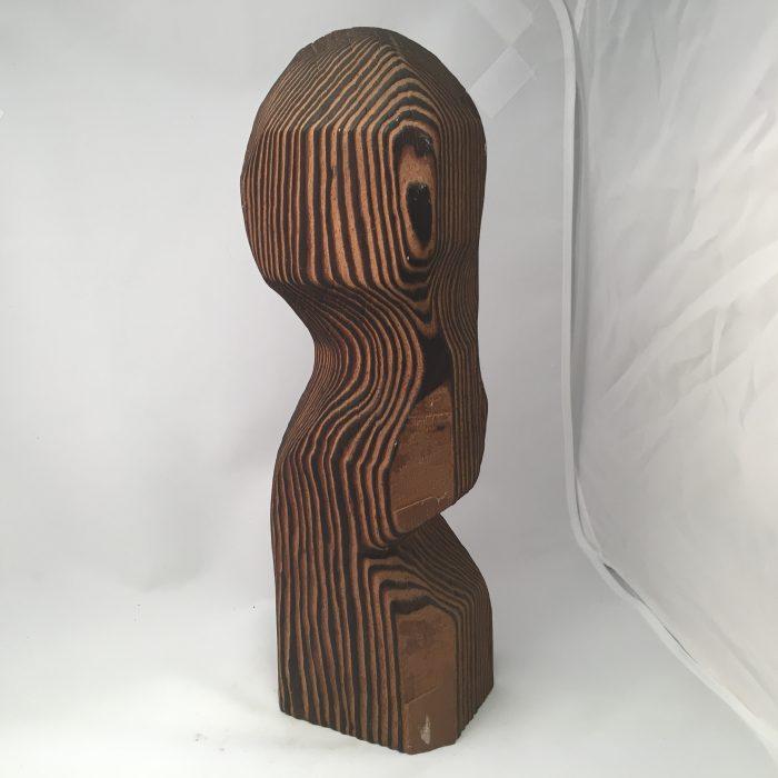 Untitled #1014 Burnt Wood Sculpture