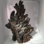 Untitled #1063 glazed clay sculpture