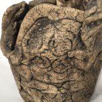 Untitled #1064 unglazed clay sculpture
