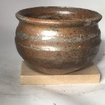 Untitled #1077 lipped stoneware bowl