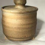 Untitled #1078 lidded stoneware jar