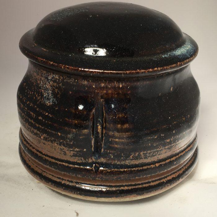 Untitled #1081 glazed lidded stoneware jar
