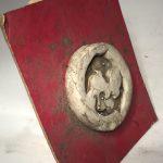 Untitled #1083 unglazed porcelain medalion