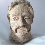 Untitled #1098 unglazed clay sculpture (sold)