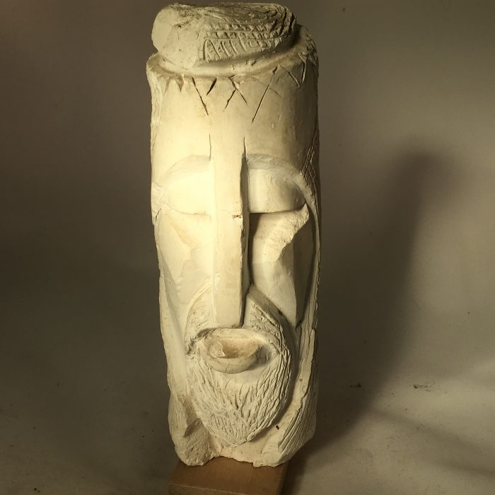 Untitled #1099 plaster bust study