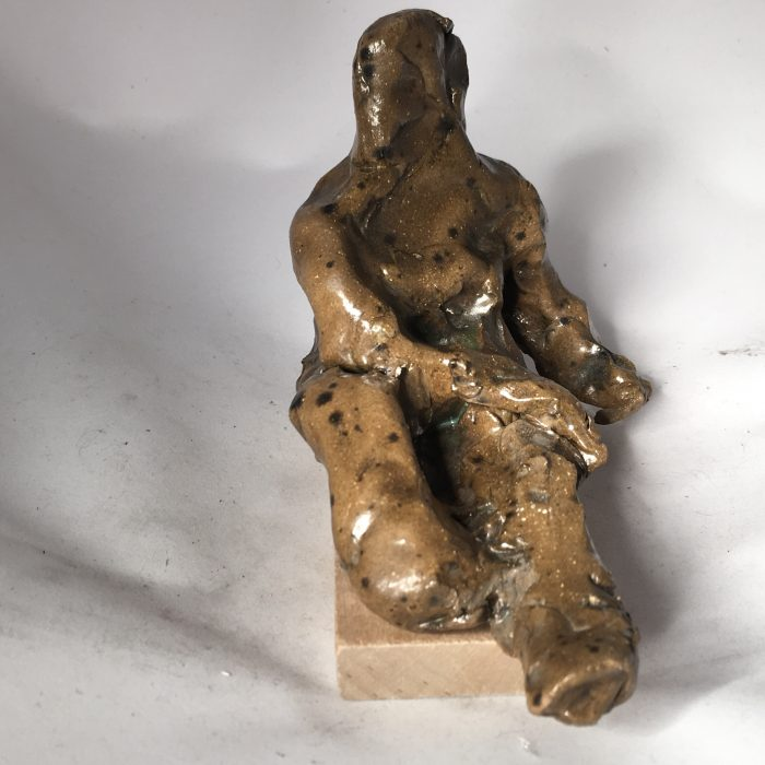 Untitled #1100 glazed clay figure study (sold)