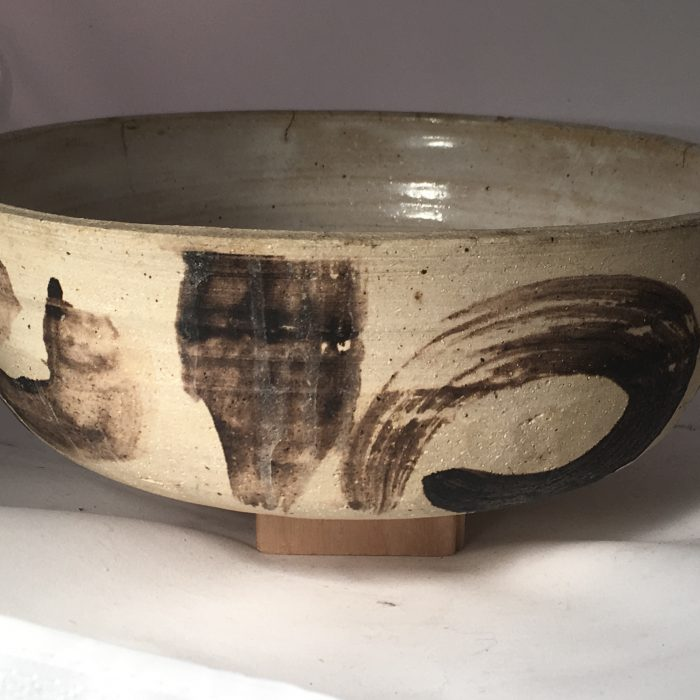 Untitled #1105 glazed stoneware bowl