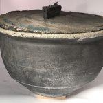 Untitled #1106 lidded stoneware bowl