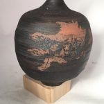 Untitled #1112 thin necked stoneware jar