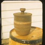 Untitled #1080 lidded stoneware jar