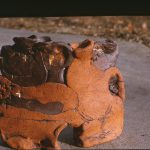 Untitled #1066 glazed clay sculpture