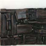 Untitled #1121 burnt wood plaque (sold)