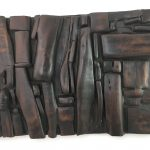 Untitled #1122 burnt wood plaque