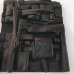 Untitled #1123 burnt wood plaque (sold)