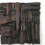 Untitled #1124 burnt wood plaque (sold)