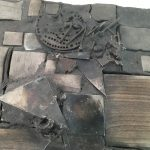 Untitled #1125 burnt wood plaque (sold)