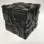 Untitled #1133 burnt wood cube (sold)