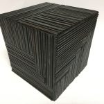 Untitled #1134 burnt wood cube