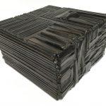 Untitled #1135 burnt wood cube