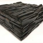 Untitled #1136 burnt wood cube