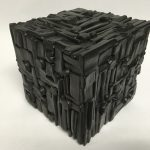 Untitled #1137 burnt wood cube (sold)