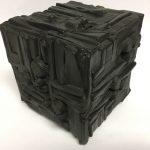 Untitled #1138 burnt wood cube