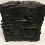 Untitled #1138 burnt wood cube