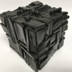 Untitled #1139 burnt wood cube (sold)