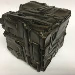 Untitled #1140 burnt wood cube (sold)