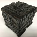 Untitled #1141 burnt wood cube (sold)