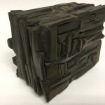 Untitled #1143 burnt wood cube (sold)