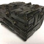 Untitled #1144 burnt wood cube