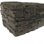 Untitled #1145 burnt wood cube