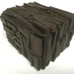 Untitled #1147 burnt wood cube