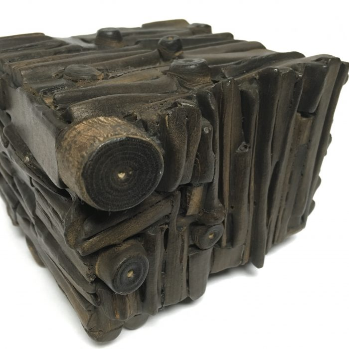 Untitled #1148 burnt wood cube