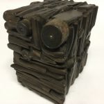 Untitled #1148 burnt wood cube