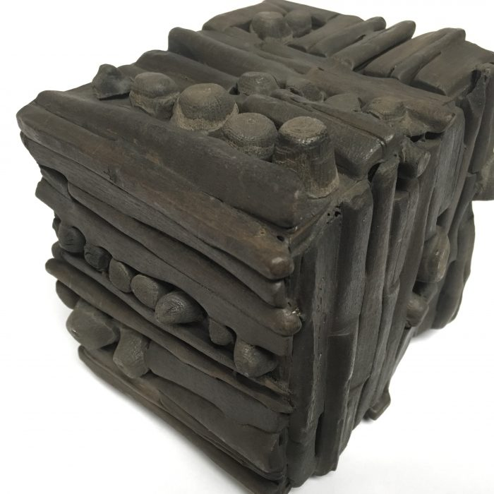 Untitled #1150 burnt wood cube