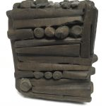 Untitled #1151 burnt wood cube (sold)
