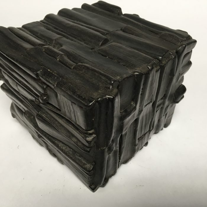 Untitled #1152 burnt wood cube (sold)