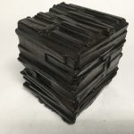 Untitled #1154 burnt wood cube (sold)