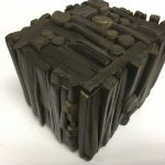 Untitled #1157 burnt wood cube (sold)