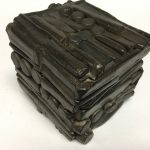 Untitled #1159 burnt wood cube (sold)