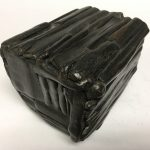 Untitled #1160 burnt wood cube (sold)