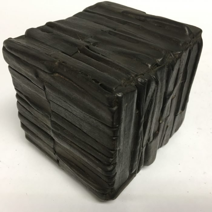 Untitled #1162 burnt wood cube