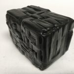Untitled #1163 burnt wood cube (sold)